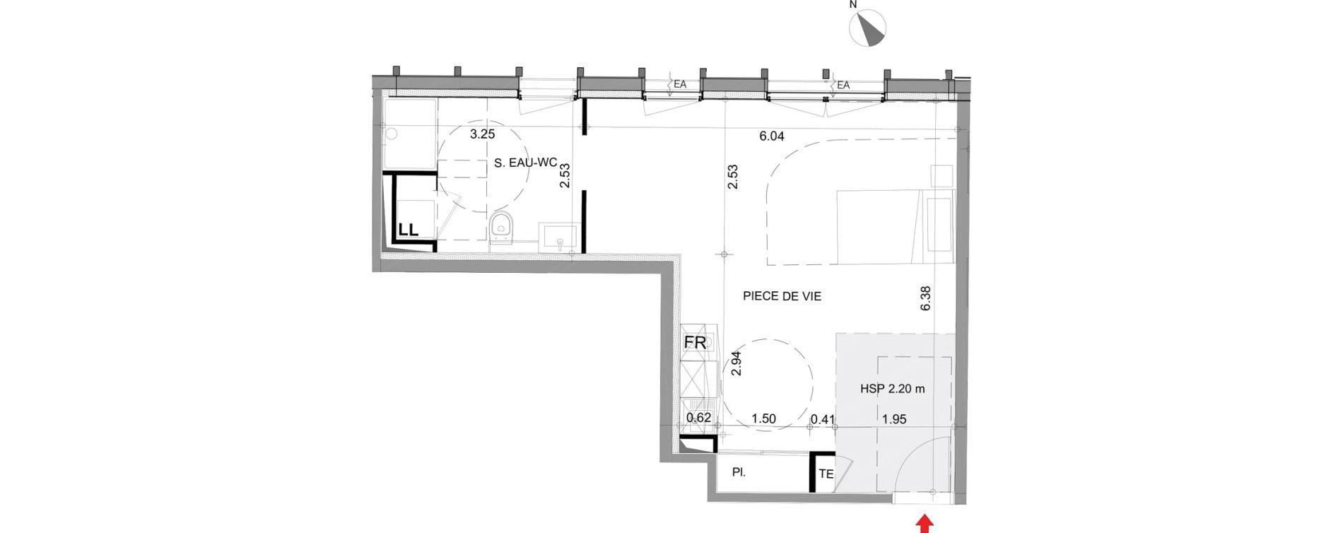 Appartement T2 meublé de 45,27 m2 à Angers Angers centre
