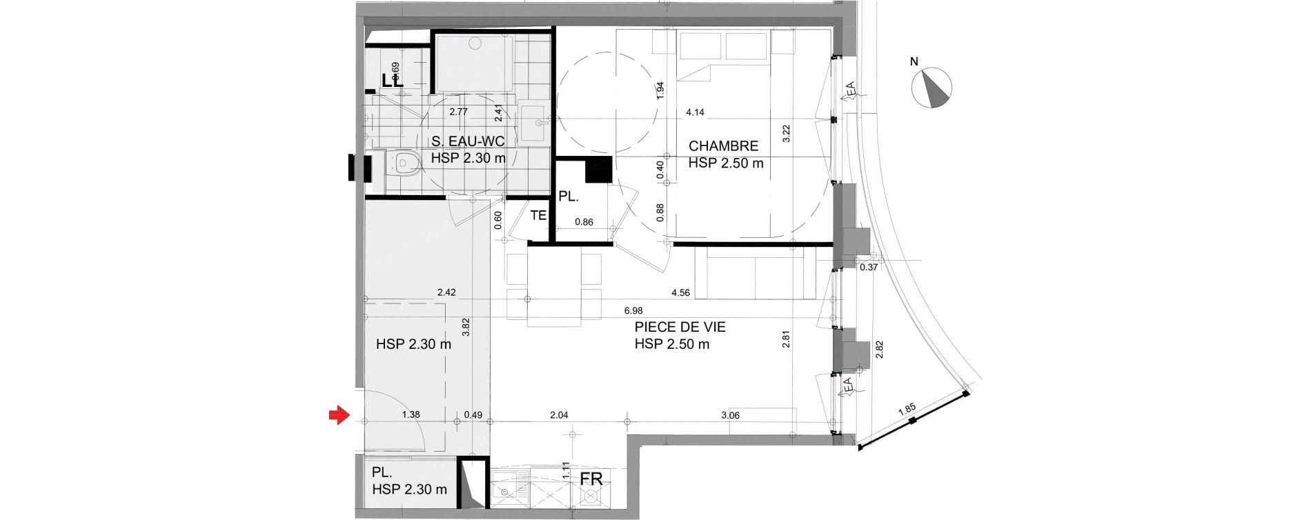 Appartement T2 meublé de 44,44 m2 à Angers Angers centre