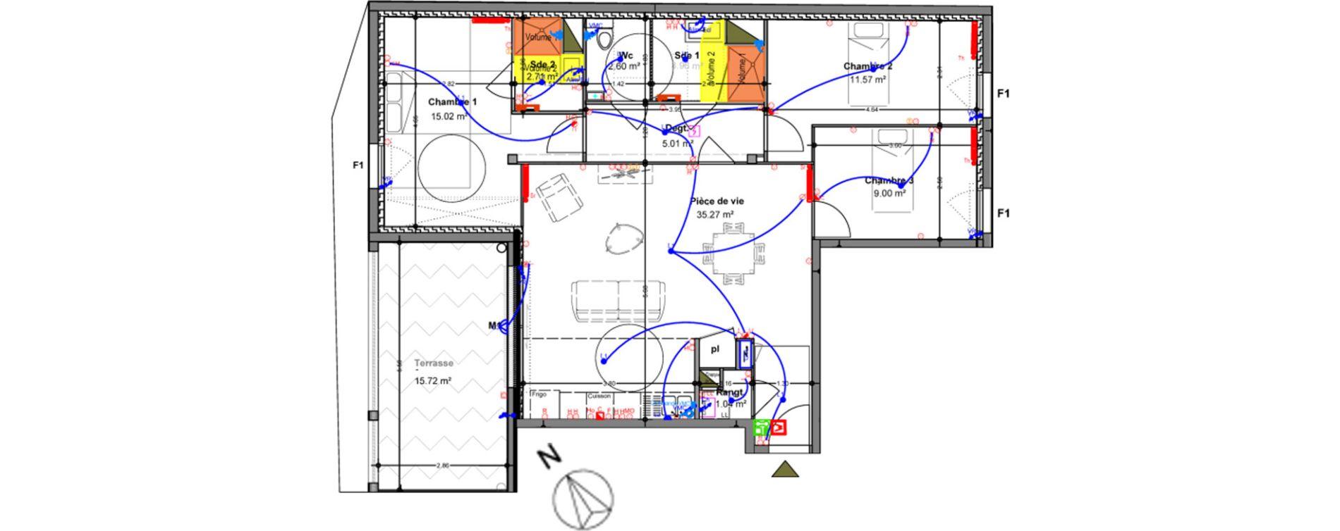 Appartement T4 de 86,12 m2 à Angers Ney