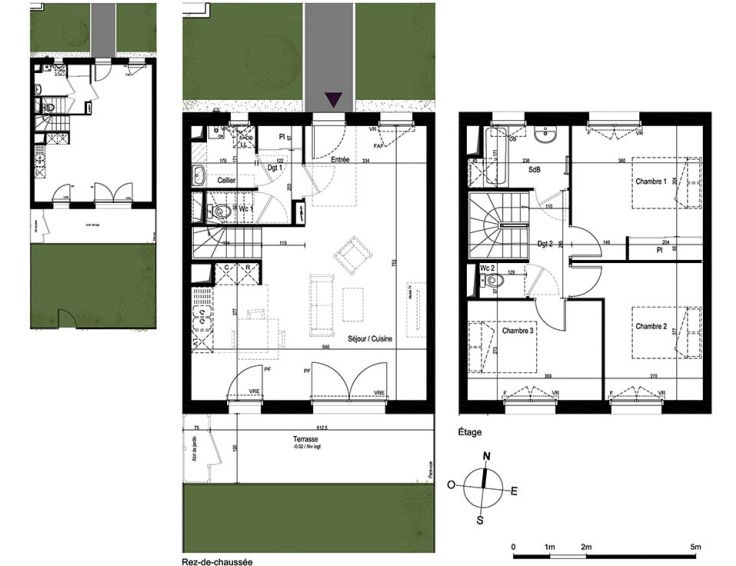 Maison t4 s quence angers n861 for Plan maison t4
