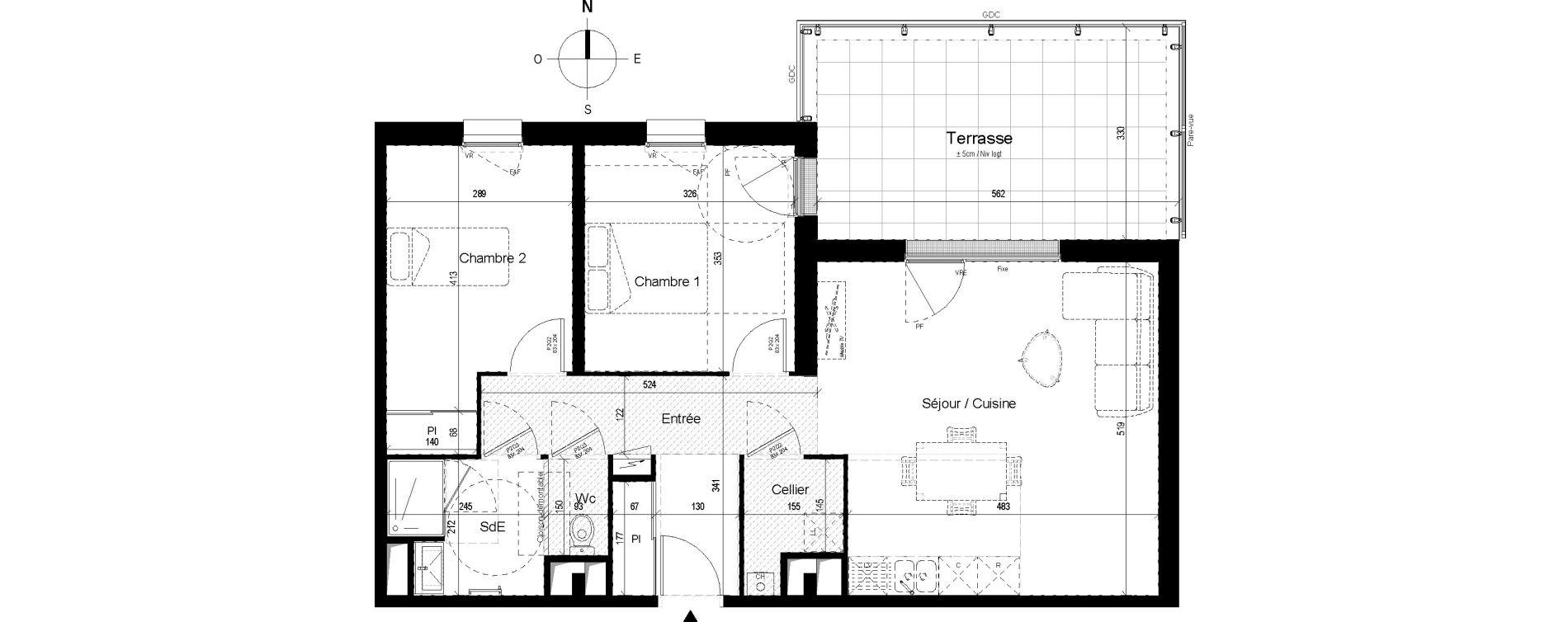 Appartement T3 de 69,16 m2 aux Ponts-De-Cé Grandes maisons