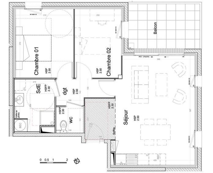 Appartement t3 saint barth lemy d 39 anjou n 283 for Plan d appartement t3