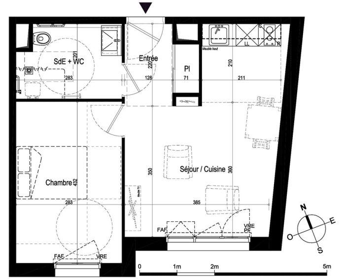 Plan T2 neuf à Saumur de