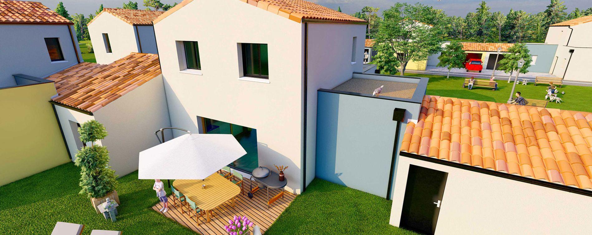 La Mothe-Achard : programme immobilier neuve « Les Jardins de Marius » (2)