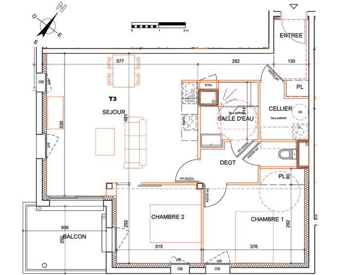 Plan T3 neuf à la Roche-sur-Yon de