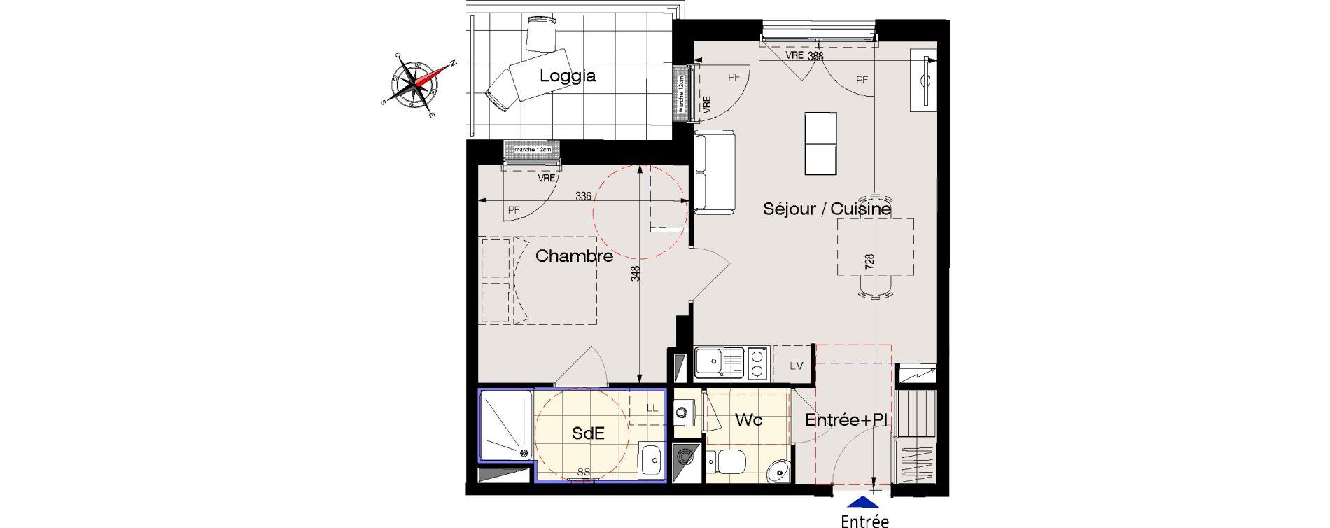Appartement T2 de 42,60 m2 aux Sables-D'Olonne Olonne-sur-mer