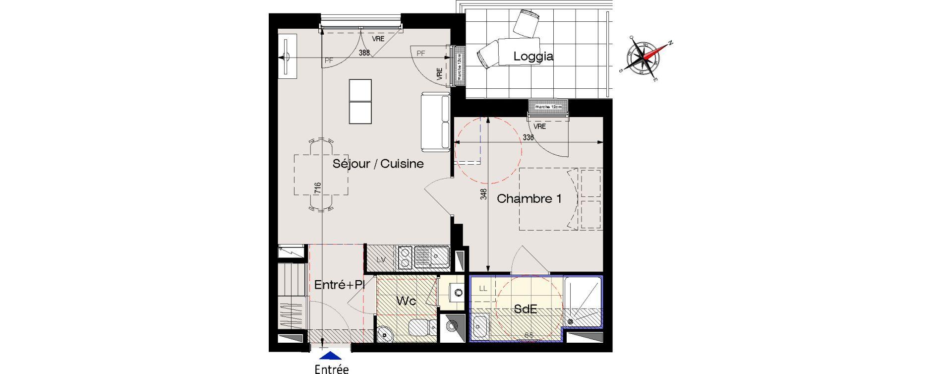 Appartement T2 de 42,34 m2 aux Sables-D'Olonne Olonne-sur-mer