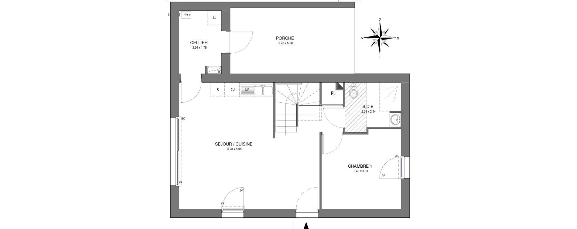 Villa T5 de 94,05 m2 à Saint-Jean-De-Monts Les verres