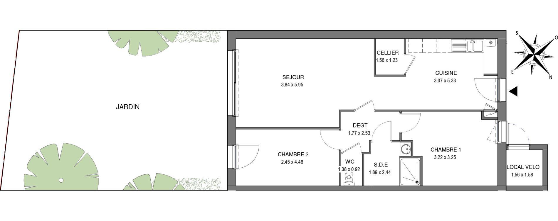 Villa T3 de 69,40 m2 à Saint-Jean-De-Monts Les verres