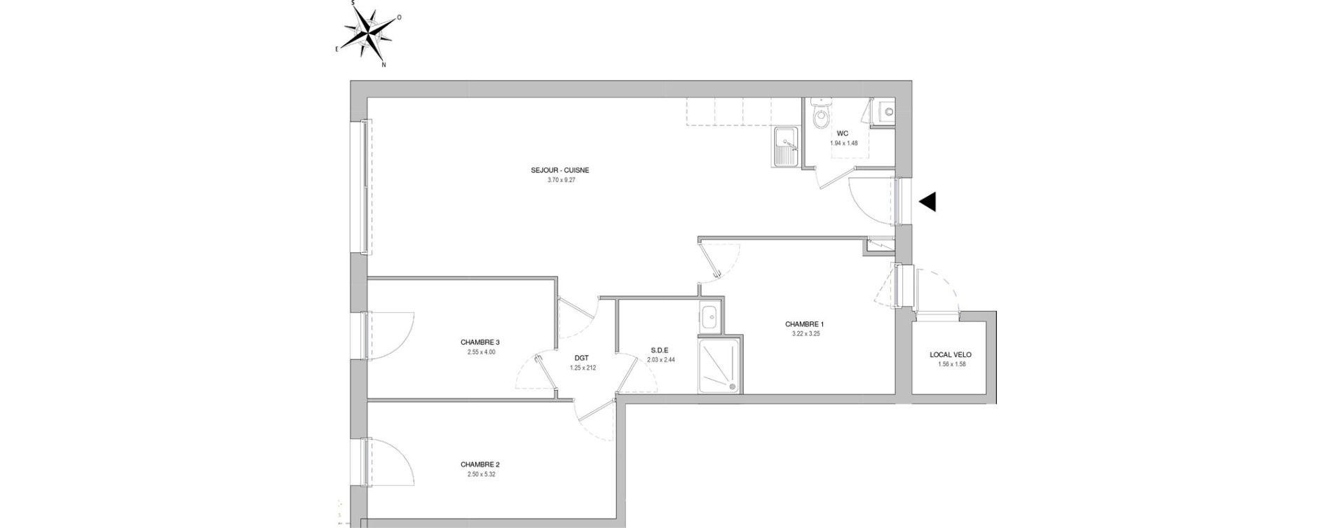 Villa T4 de 83,55 m2 à Saint-Jean-De-Monts Les verres