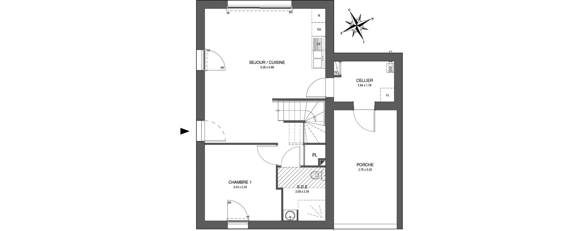 Maison T5 de 94,05 m2 à Saint-Jean-De-Monts Les verres