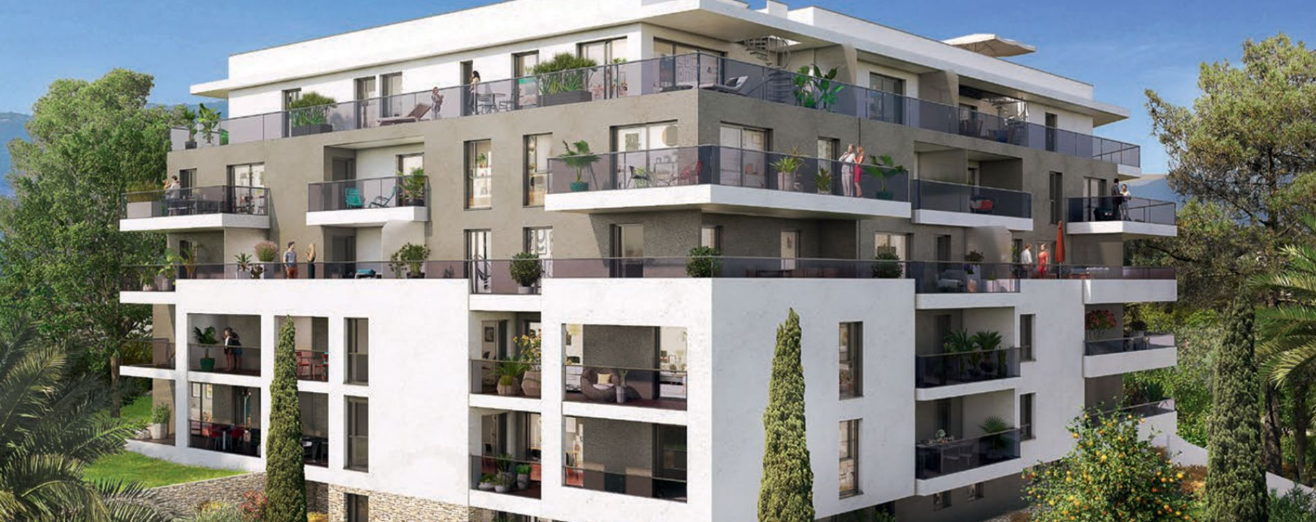 Antibes : programme immobilier neuve « Parc Bel Azur »