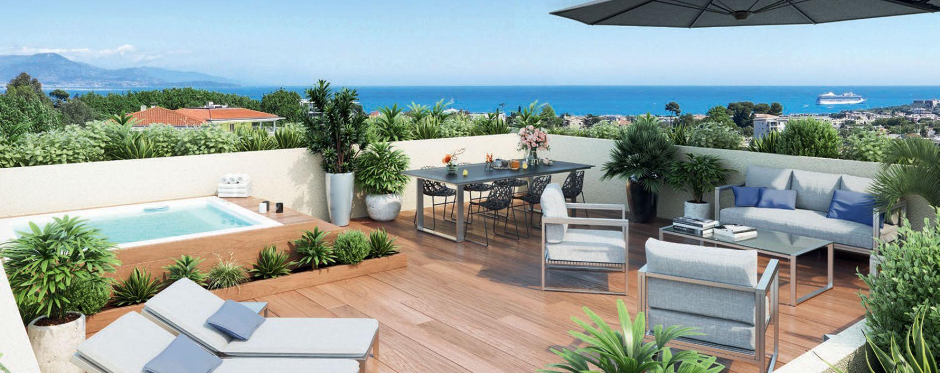 Antibes : programme immobilier neuve « Parc Bel Azur » (2)