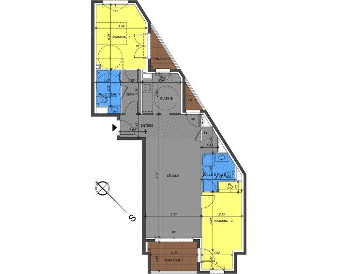 Plan T3 neuf à Antibes de