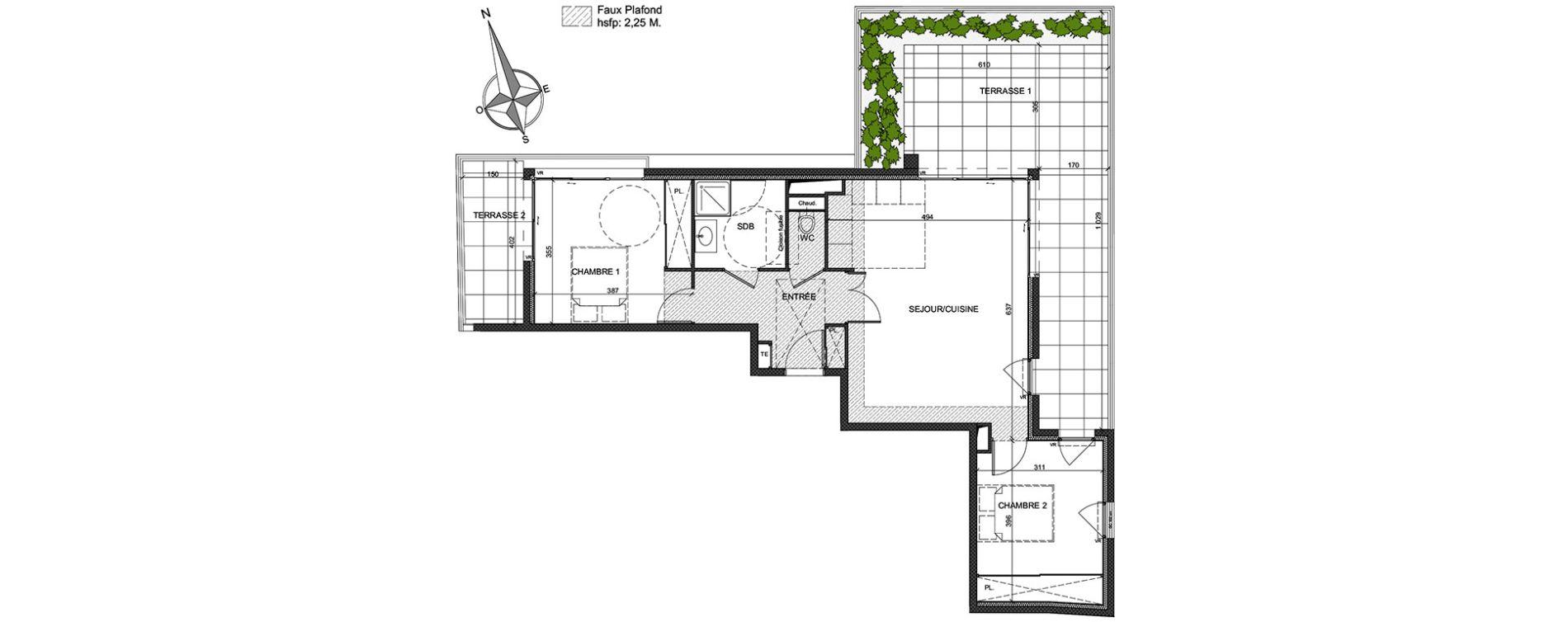 Appartement T3 de 66,91 m2 à Antibes Antibes coeur de ville