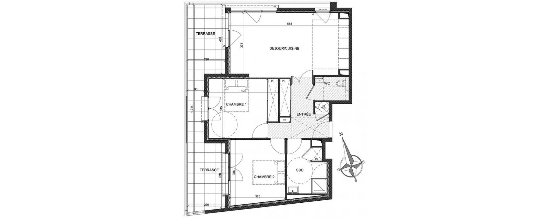 Appartement T3 de 68,37 m2 à Antibes Antibes coeur de ville