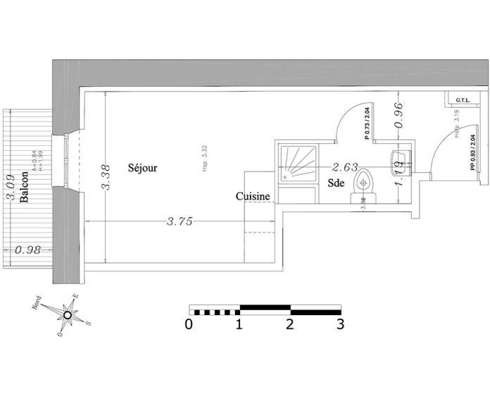 Plan Studio neuf à Cannes de