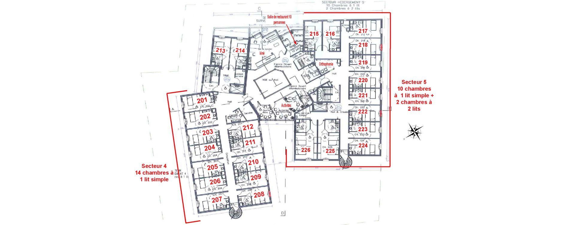 Chambre de 17,30 m2 à Drap Centre