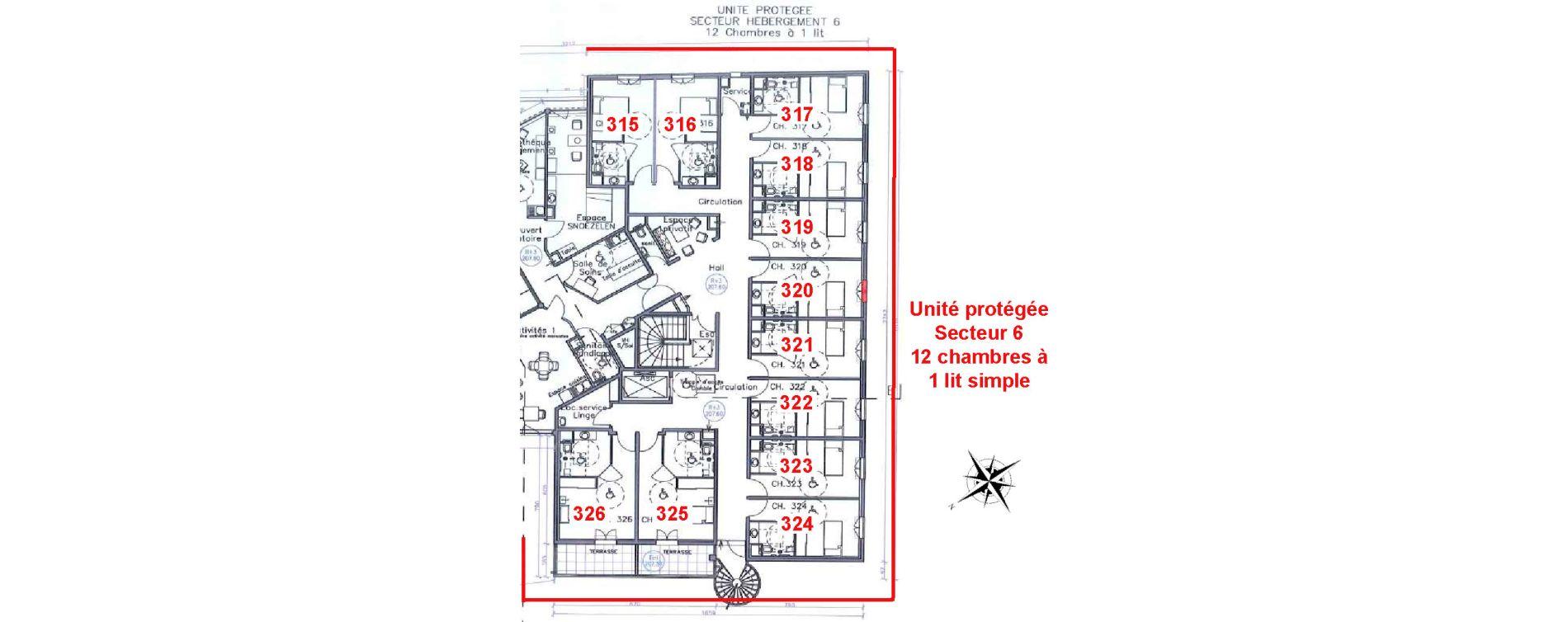 Chambre de 17,35 m2 à Drap Centre