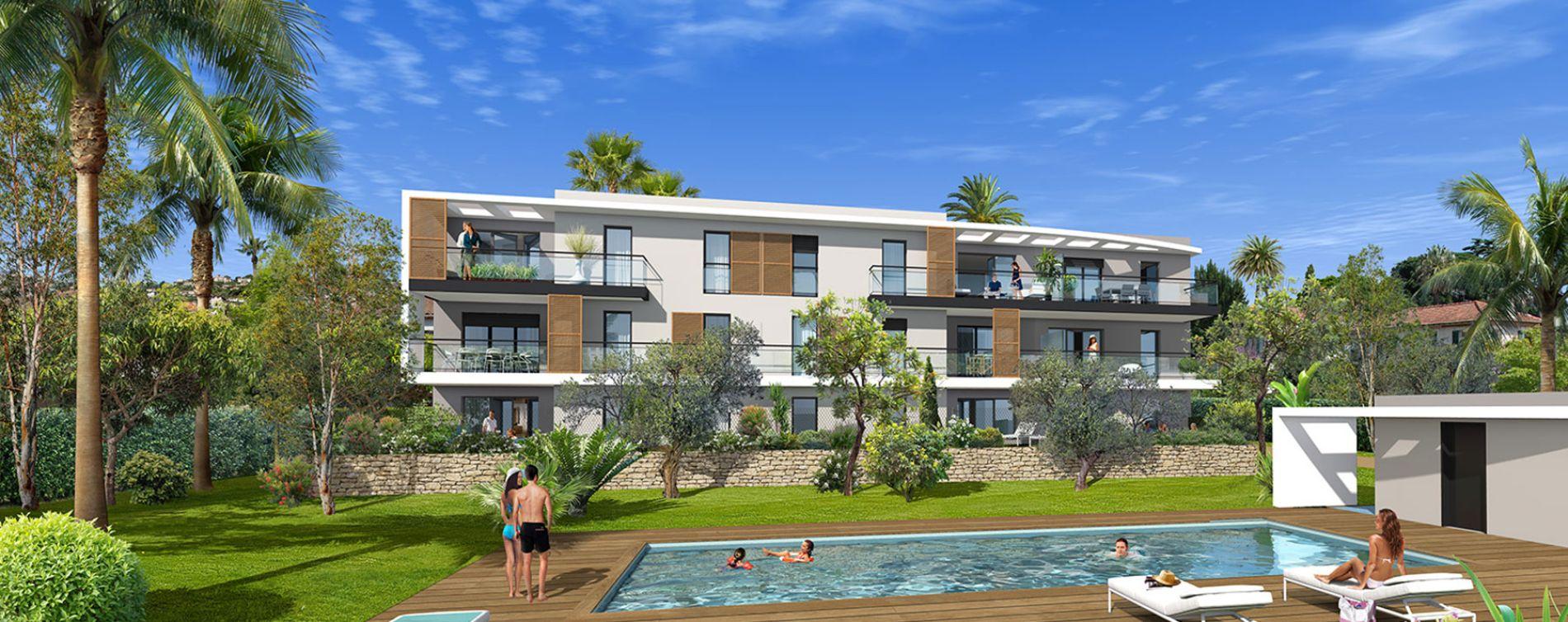 Golfe-juan : programme immobilier neuve « Villa Palma » en Loi Pinel