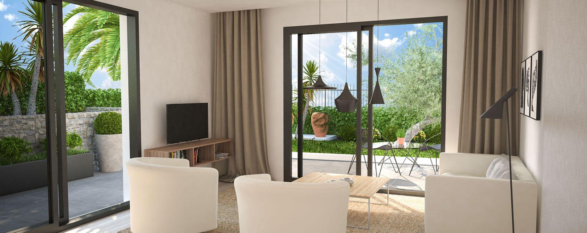 Golfe-juan : programme immobilier neuve « Villa Palma » en Loi Pinel (2)