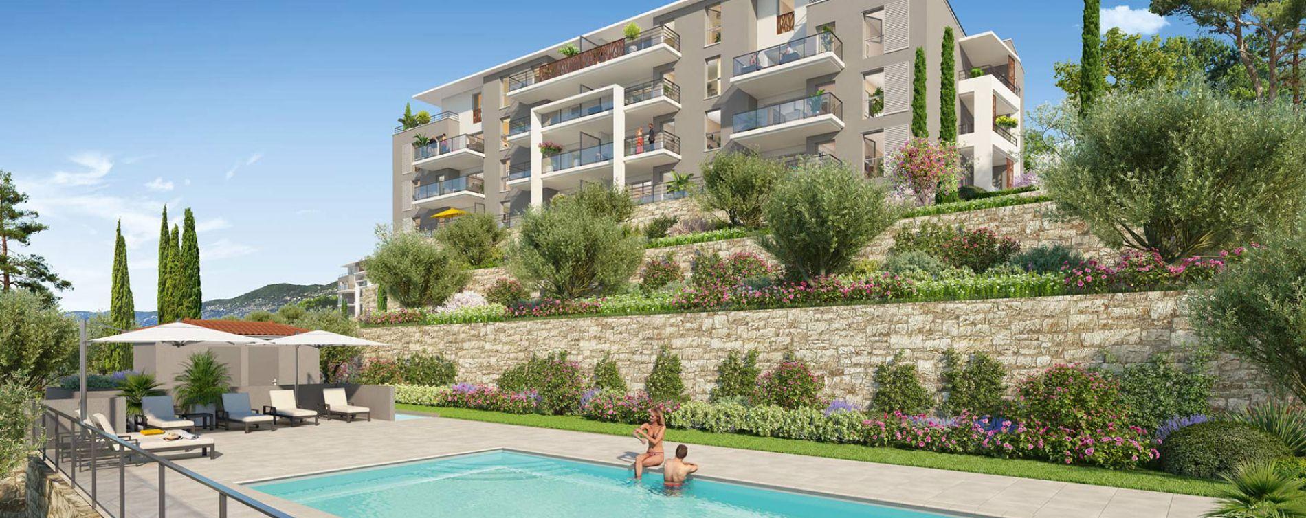 Grasse : programme immobilier neuve « Roses Marine » (2)