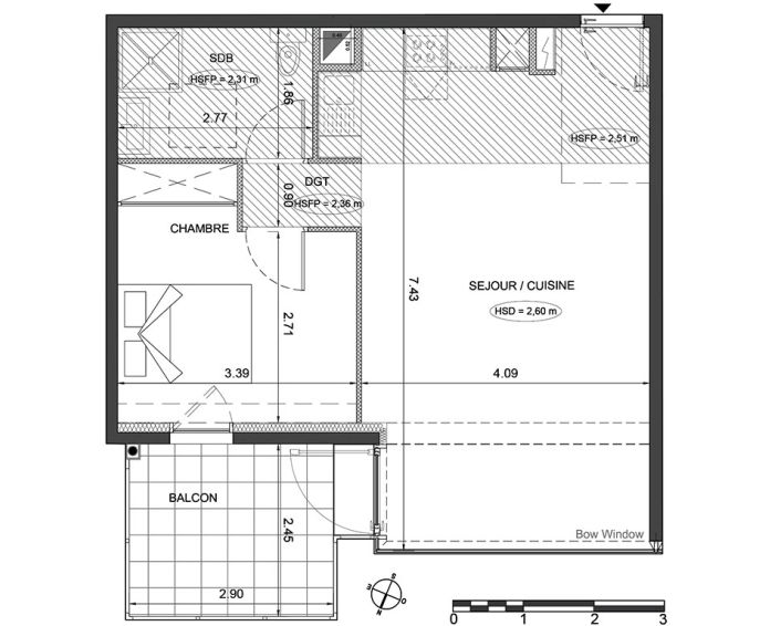 Appartement t2 menton n 558 nord ouest for Appartement nord ouest