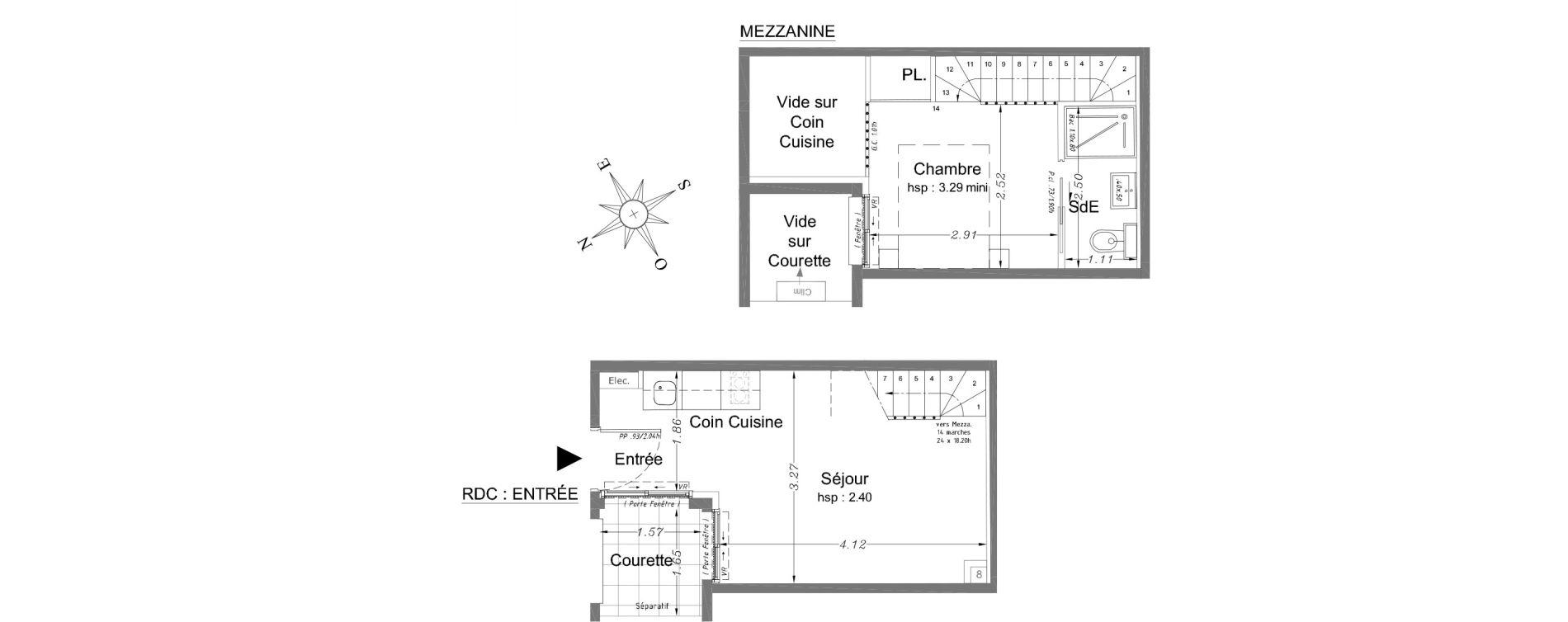 Duplex T2 de 25,85 m2 à Nice Carabacel