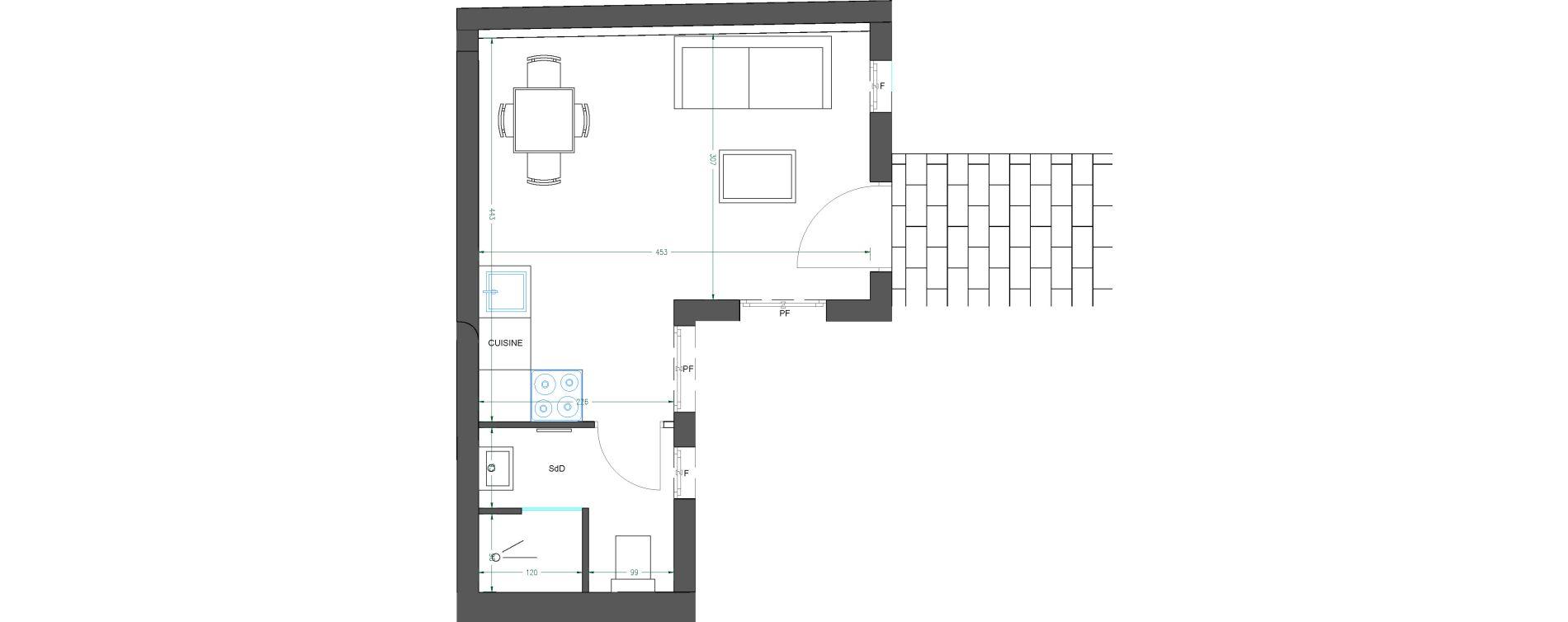 Plan Studio neuf à Nice de