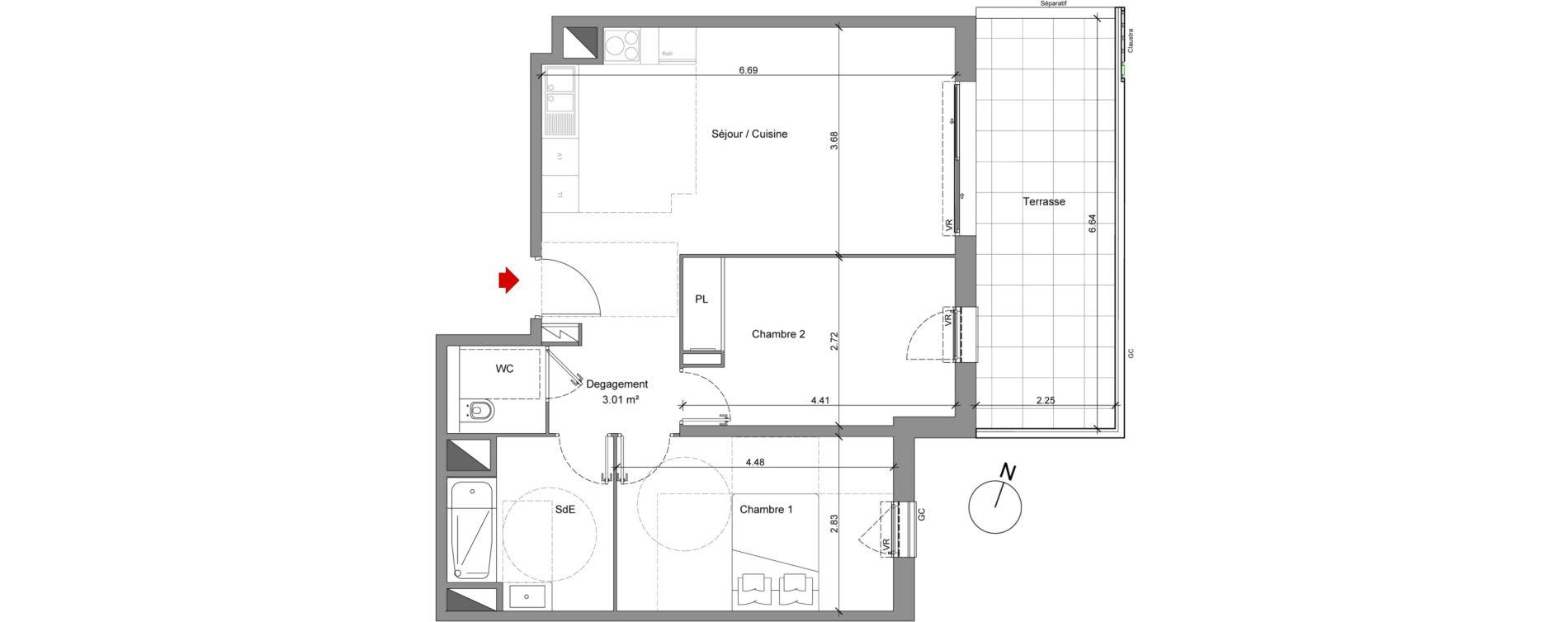 Appartement T3 de 63,11 m2 à Nice Saint antoine