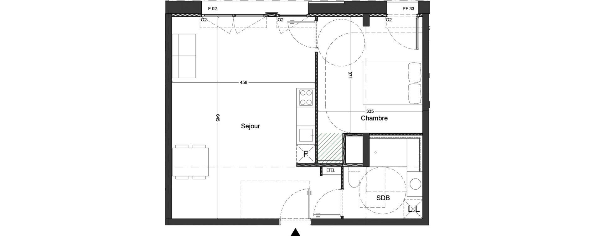 Appartement T2 de 49,68 m2 à Nice Saint augustin