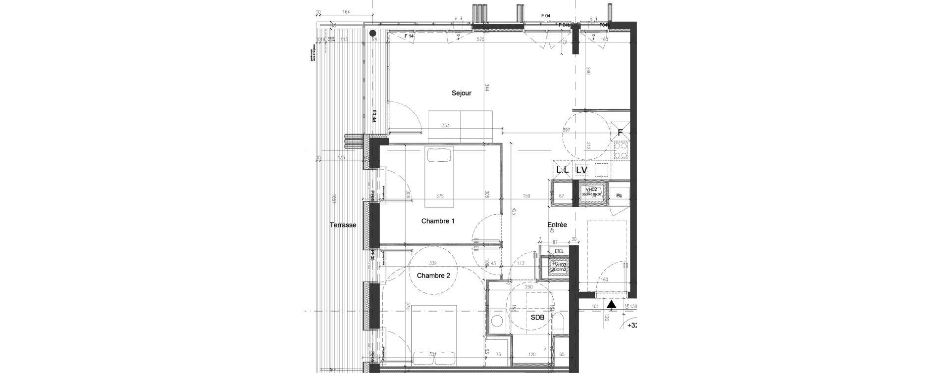 Appartement T3 de 70,20 m2 à Nice Saint augustin