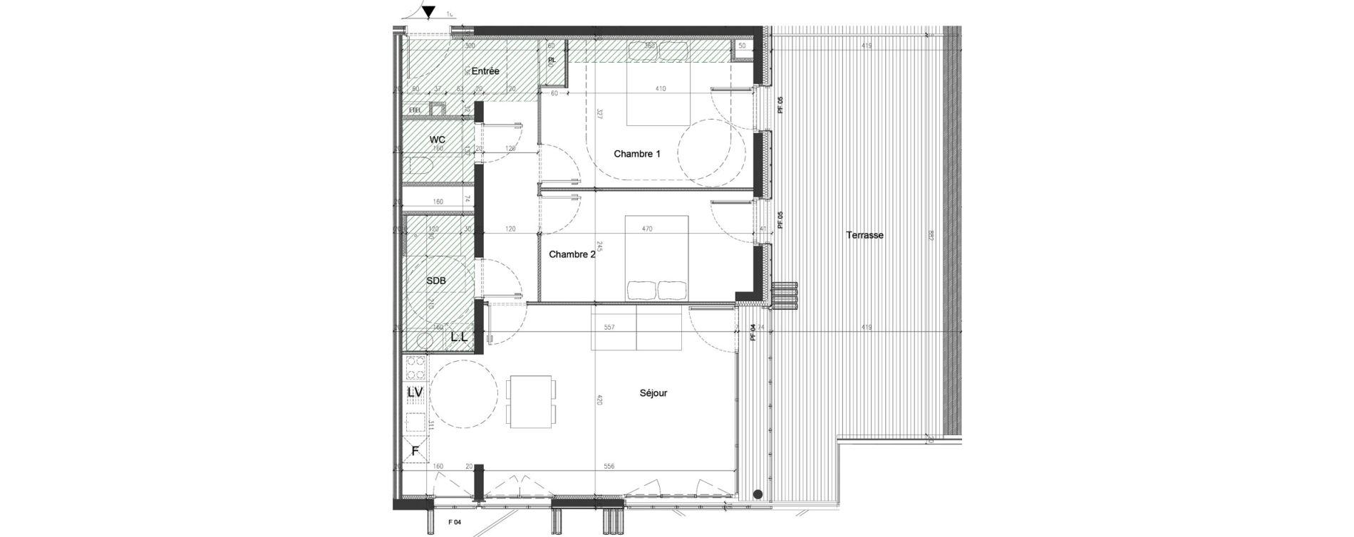 Appartement T3 de 72,03 m2 à Nice Saint augustin