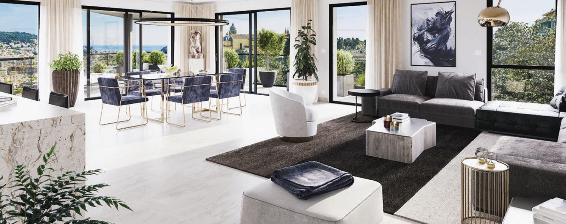 Nice : programme immobilier neuve « L'Exclusive » en Loi Pinel (4)