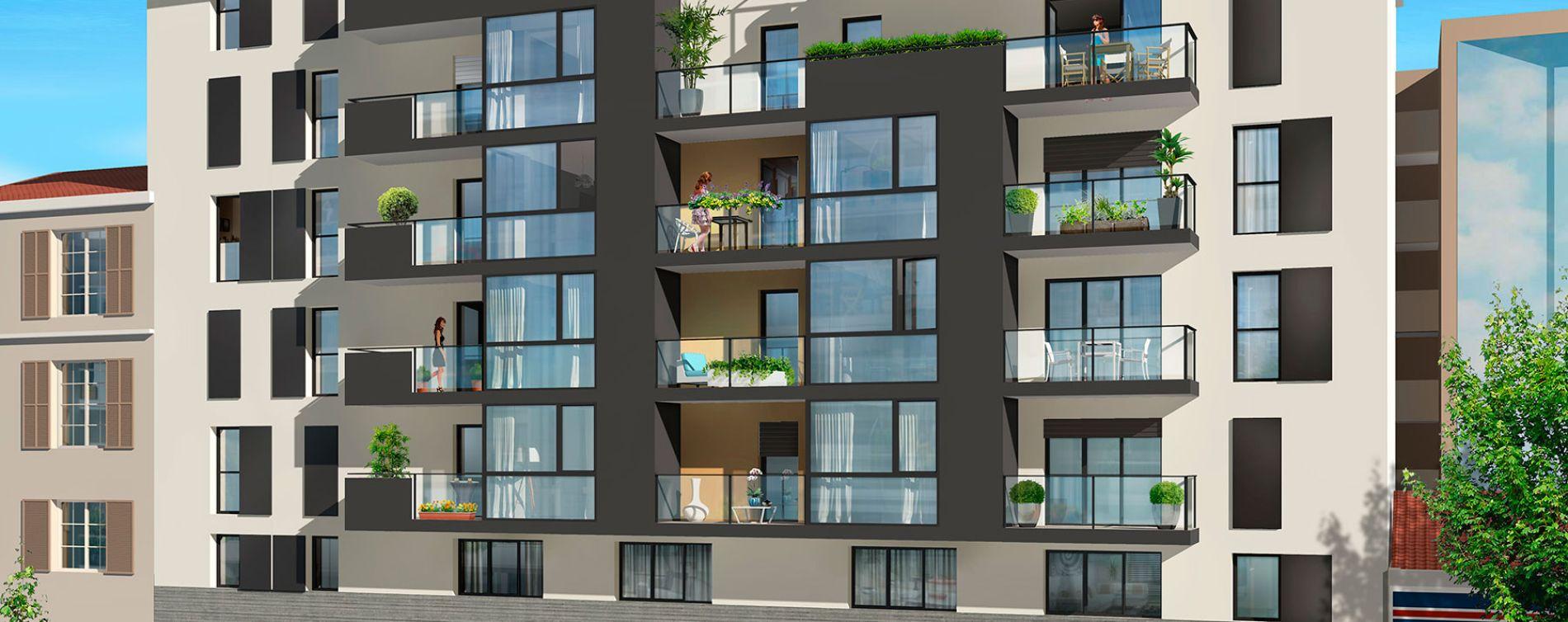 Nice : programme immobilier neuve « Villa d'Este » en Loi Pinel