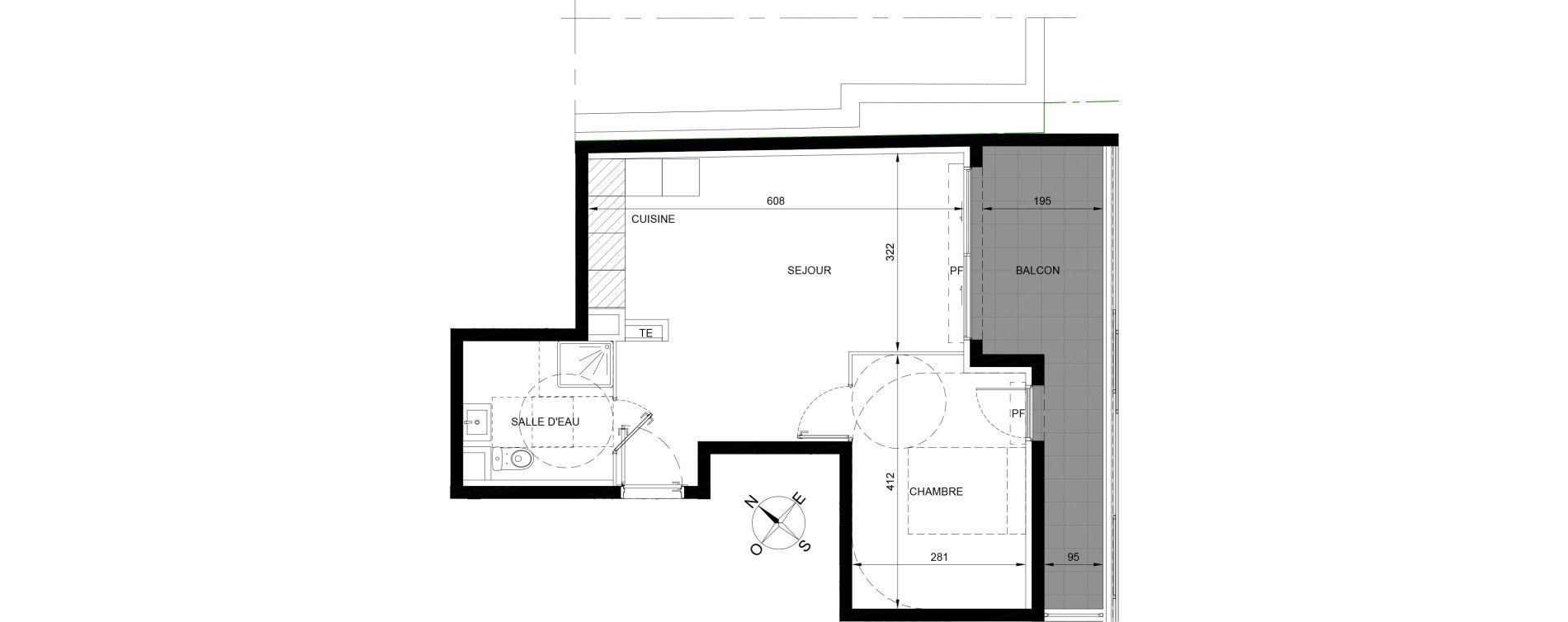 Appartement T2 de 41,75 m2 à Roquebrune-Cap-Martin Centre