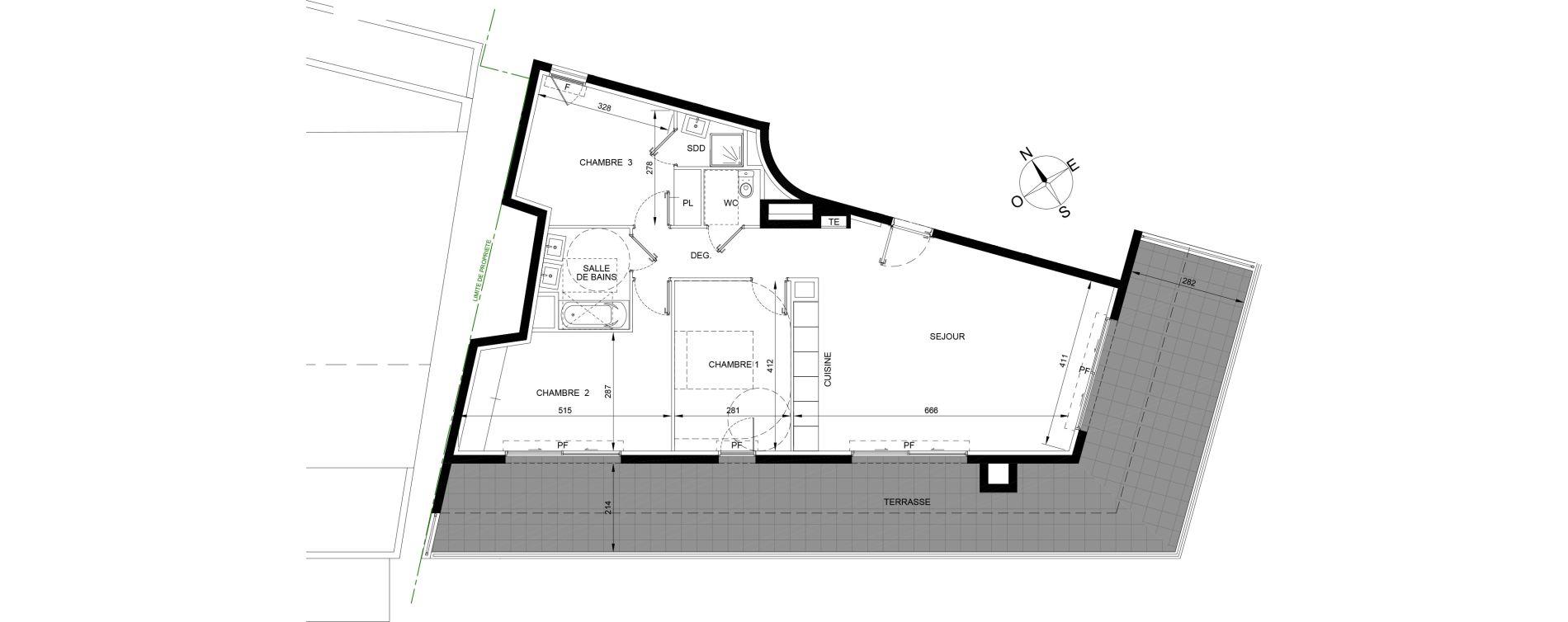 Appartement T4 de 87,50 m2 à Roquebrune-Cap-Martin Centre