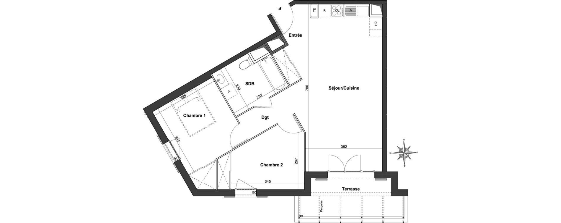 Appartement T3 de 65,27 m2 à Roquefort-Les-Pins Centre