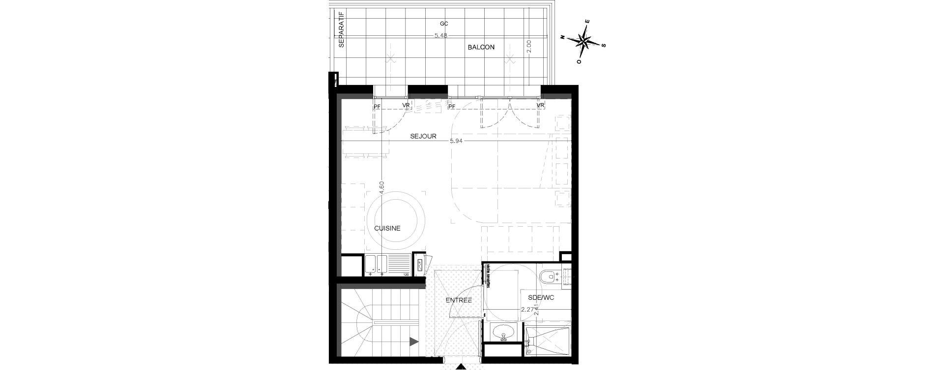 Duplex T3 de 79,30 m2 à Saint-Étienne-De-Tinée Centre