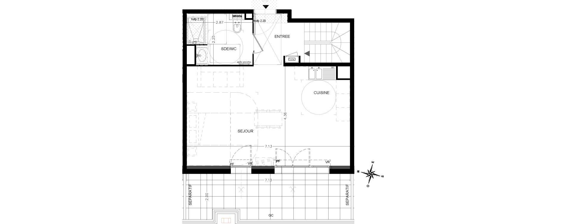 Duplex T3 de 78,90 m2 à Saint-Étienne-De-Tinée Centre