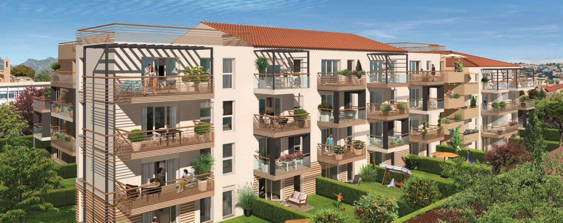 Saint-Laurent-du-Var : programme immobilier neuve « Les Jardins de Michelis »