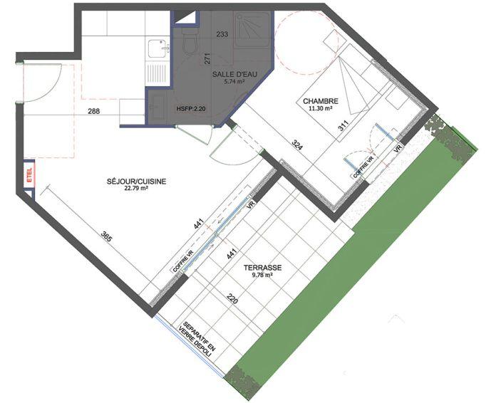 Plan T2 neuf à Saint-Laurent-du-Var de