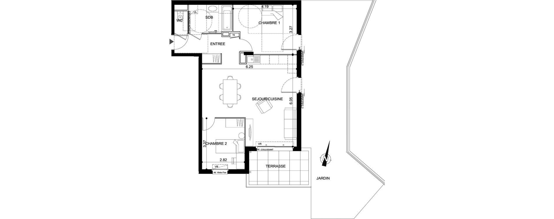 Appartement T3 de 66,53 m2 à Vallauris Centre