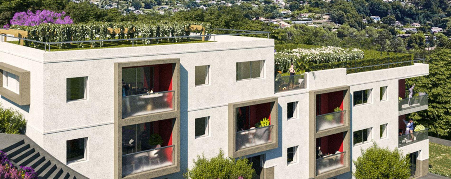 Vence : programme immobilier neuve « Les Terrasses de Lisa » en Loi Pinel