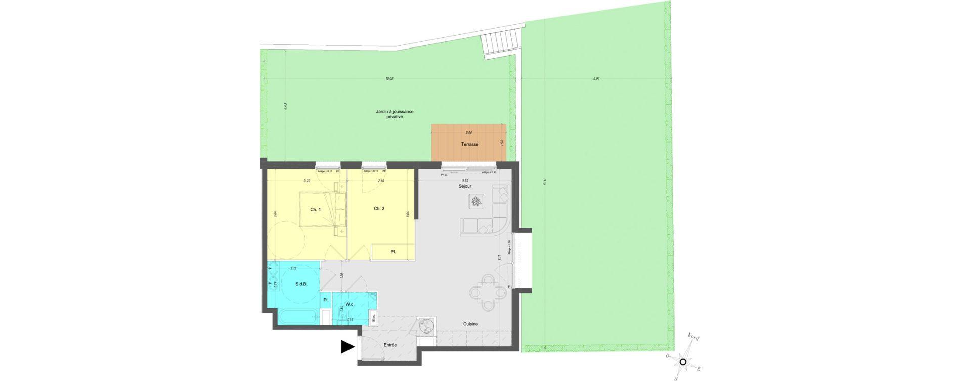 Appartement T3 de 65,70 m2 à Vence Centre