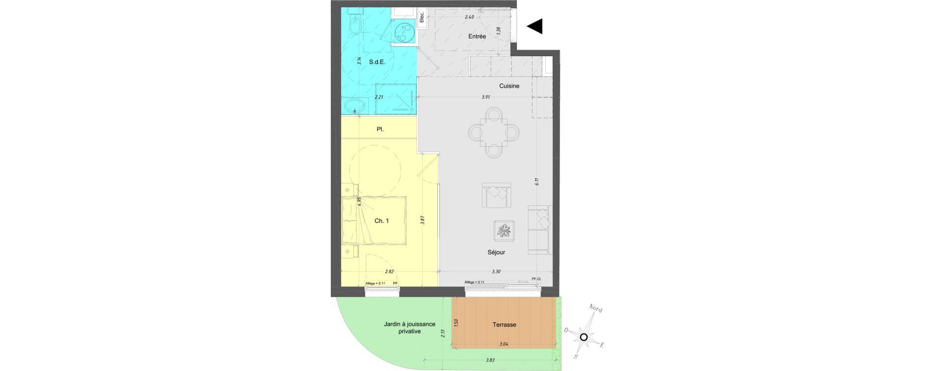 Appartement T2 de 47,15 m2 à Vence Centre