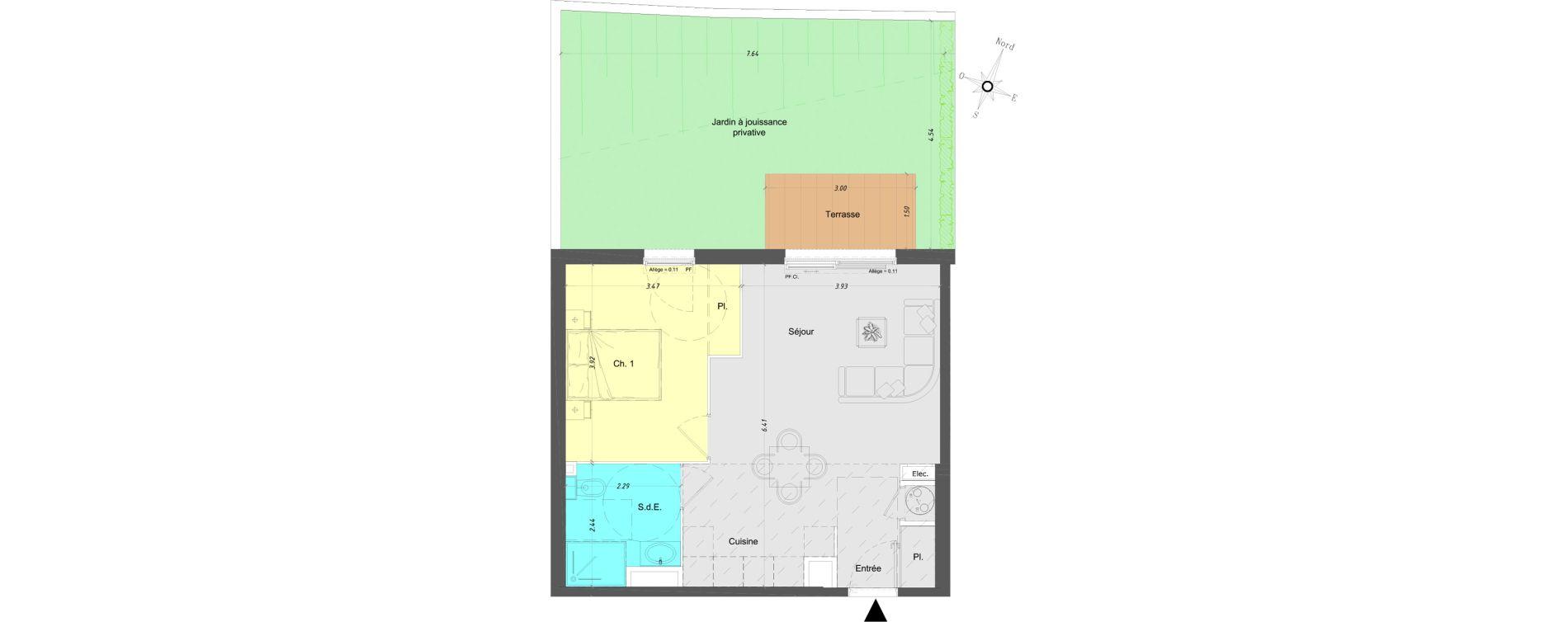Appartement T2 de 45,85 m2 à Vence Centre