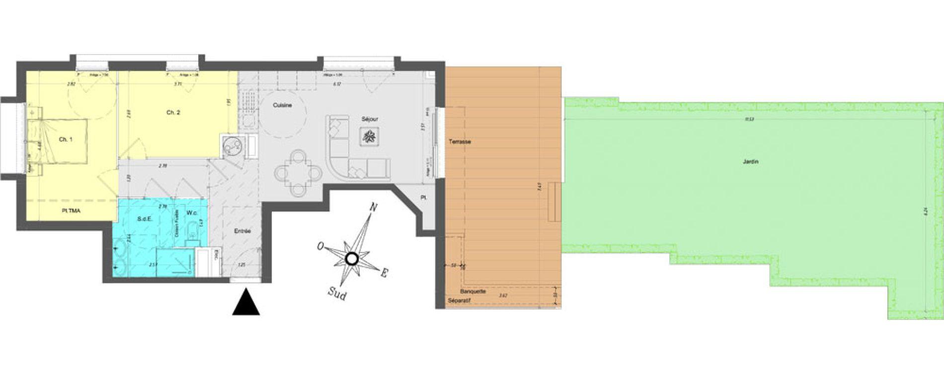 Appartement T3 de 61,70 m2 à Vence Centre