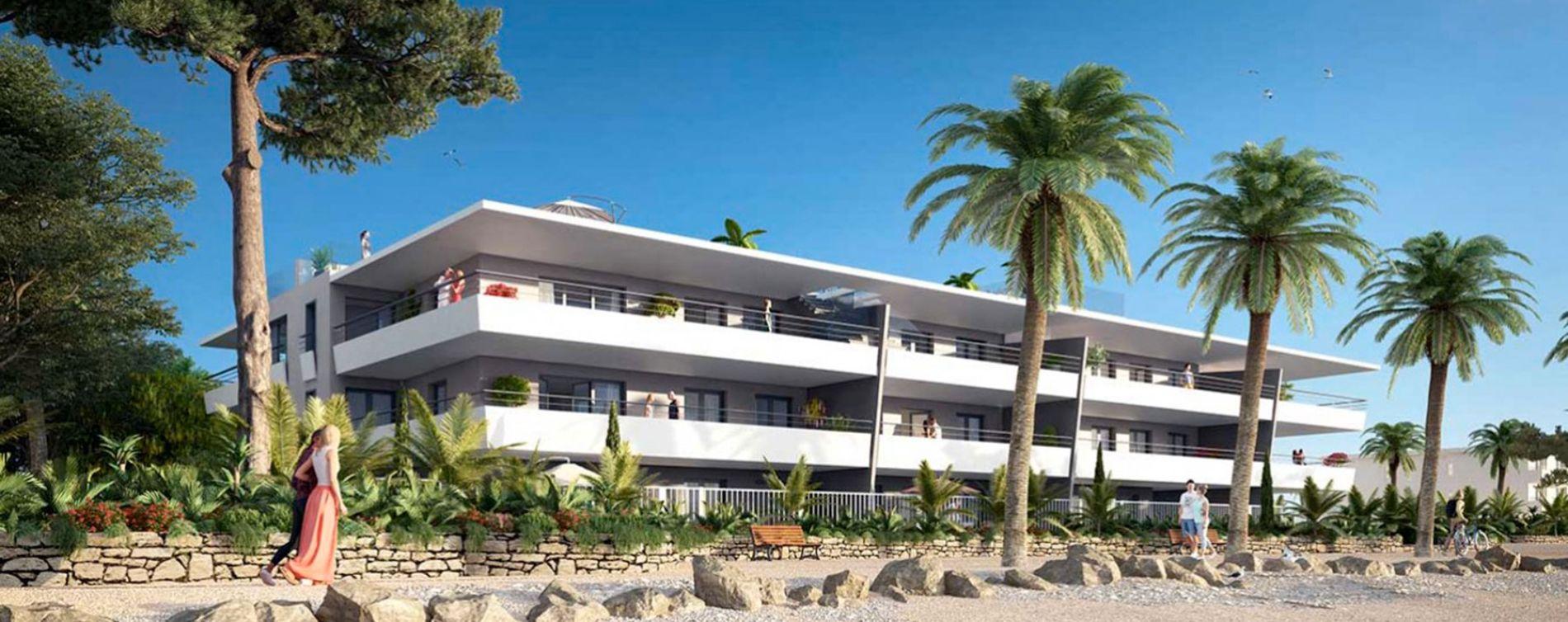 Villeneuve-Loubet : programme immobilier neuve « Pearl Beach » en Loi Pinel