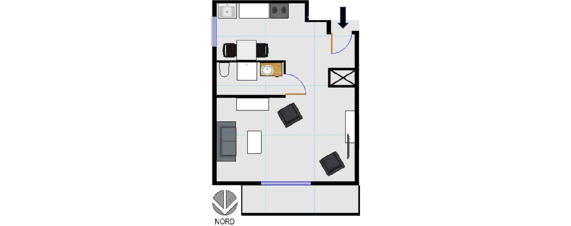 Plan Studio neuf à Aix-en-Provence de